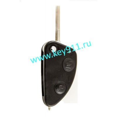 Выкидной ключ для Альфа Ромео (Alfa Romeo) | SIP22 | 2 кнопки