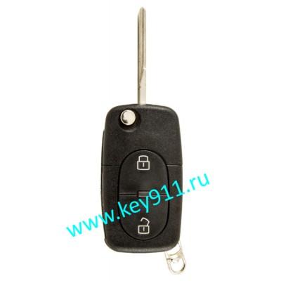 Корпус выкидного ключа Ауди (Audi) | HU66 | 2 кнопки