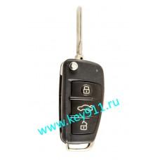 Выкидной ключ для Ауди (Audi) 8E0837220P | HU66 | ID 48 | 315MHz Америка | 3 кнопки + паника