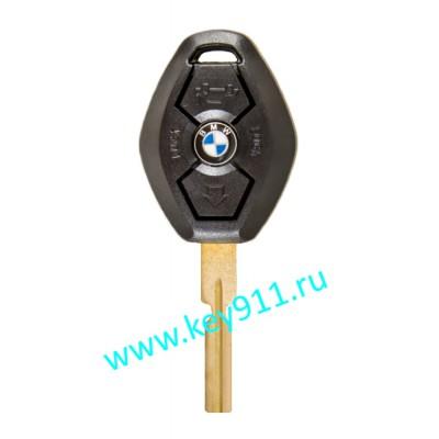 Корпус ключа БМВ (BMW) | HU58 | 3 кнопки |  Ромб
