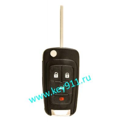 Корпус выкидного ключа Шевроле (Chevrolet)   HU100   4 кнопки
