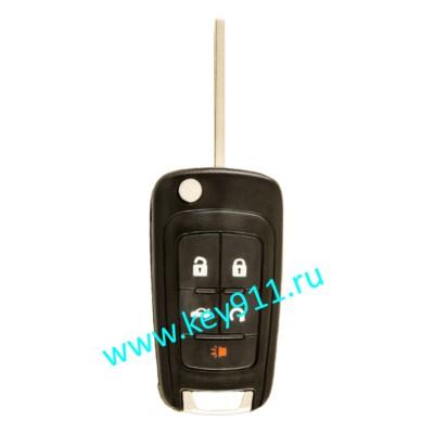 Корпус выкидного ключа Шевроле (Chevrolet) | HU100 | 5 кнопок