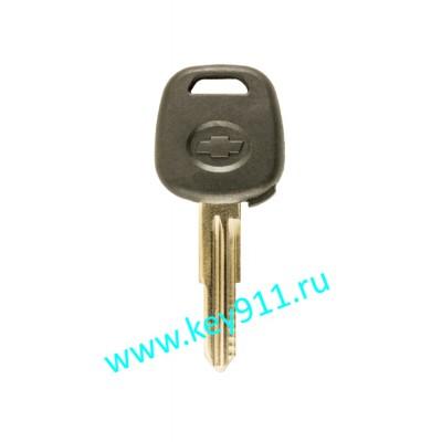 Заготовка ключа Шевроле (Chevrolet) | DW05 | под чип