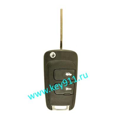 Корпус выкидного ключа Шевроле (Chevrolet)   DW05   2 кнопки