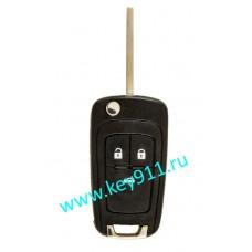 Корпус выкидного ключа Шевроле (Chevrolet) | HU100 | 3 кнопки