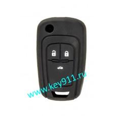 Силиконовый чехол для выкидного ключа Опель (Opel) | 3 кнопки