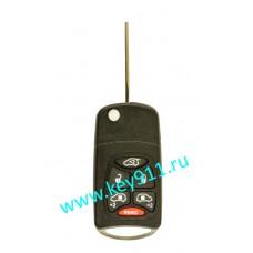 Корпус выкидного ключа Крайслер (Chrysler) | Y160 | 5 кнопок + паника
