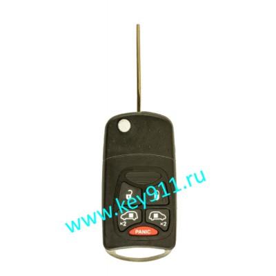 Корпус выкидного ключа Крайслер (Chrysler)   Y160   4 кнопки + паника