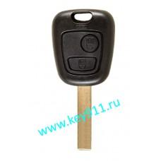 Корпус ключа Ситроен (Citroen) | HU83 | 2 кнопки