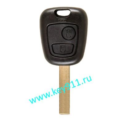 Корпус ключа Ситроен (Citroen) | VA2 | 2 кнопки