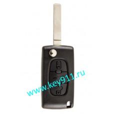 Корпус выкидного ключа Ситроен (Citroen) VA2 | 3 кнопки
