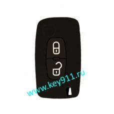 Силиконовый чехол для выкидного ключа Пежо (Peugeot) | 2 кнопки