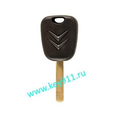 Заготовка ключа Ситроен (Citroen) | VA2 | под чип