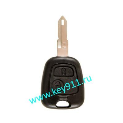 Корпус ключа Ситроен (Citroen) NE73 | 2 кнопки