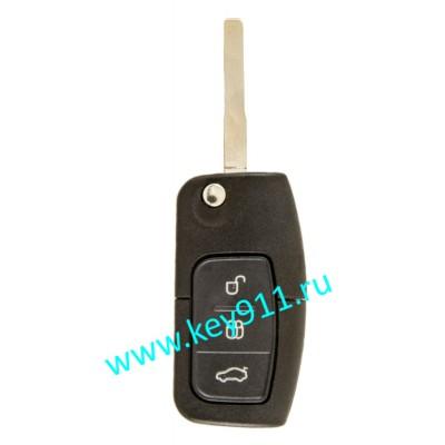 Выкидной ключ для Форд Фокус, Мондео, Галакси, С-Макс, Фиеста (Ford Focus, Mondeo, Galaxy, C-MAX, Fiesta) | HU101 | 63-6F | 433MHz | 3 кнопки