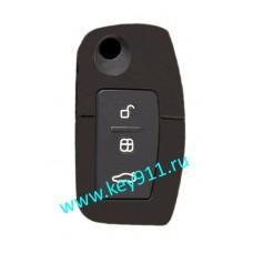 Силиконовый чехол для выкидного ключа Форд (Ford) | 3 кнопки
