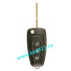 Выкидной ключ для Форд Фокус 3, Мондео 4, С-МАХ  (Ford Ford Focus 3, Mondeo 4, C-MAX) | HU101 | 63-6F | 433MHz | 3 кнопки