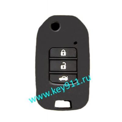 Силиконовый чехол для выкидного ключа Хонда (Honda) | 3 кнопки