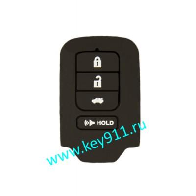 Силиконовый чехол для смарт ключа Хонда (Honda) | 4 кнопки