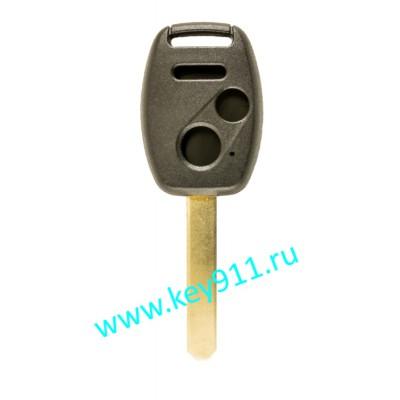 Корпус ключа Хонда (Honda) | HON66 | 3 кнопки + паника