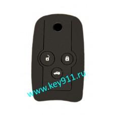 Силиконовый чехол для выкидного ключа Хонда (Honda)   3 кнопки