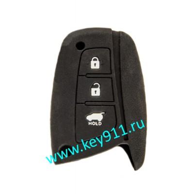 Силиконовый чехол для смарт ключа Хундай (Hyundai)   3 кнопки
