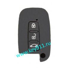 Силиконовый чехол для смарт ключа Хундай (Hyundai) | 3 кнопки