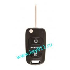 Корпус выкидного ключа Хундай Элантра (Hyundai Elantra)   HYN14L   2 кнопки