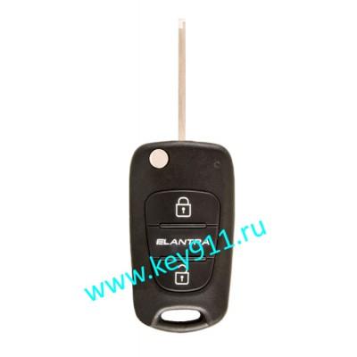Корпус выкидного ключа Хундай Элантра (Hyundai Elantra) | HYN14L | 2 кнопки