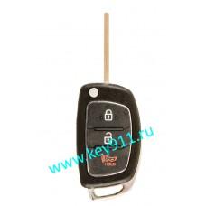 Корпус выкидного ключа Хундай (Hyundai) | TOY48 | 2 кнопки + паника