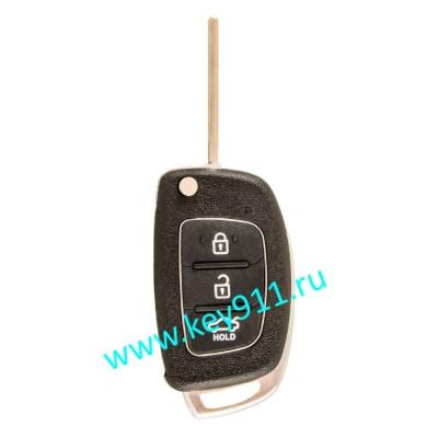 Корпус выкидного ключа Хундай (Hyundai) | TOY48 | 3 кнопки