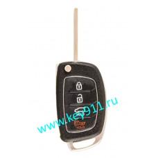 Корпус выкидного ключа Хундай (Hyundai) | TOY48 | 3 кнопки + паника