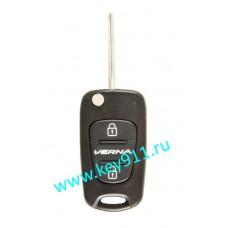 Корпус выкидного ключа Хундай Верна (Hyundai Verna)   TOY48   2 кнопки