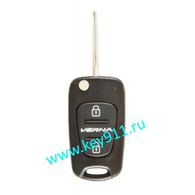 Корпус выкидного ключа Хундай Верна (Hyundai Verna) | TOY48 | 2 кнопки