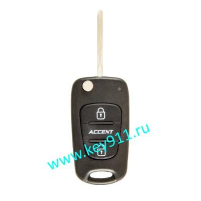 Корпус выкидного ключа Хундай Акцент (Hyundai Accent) | TOY48 | 2 кнопки