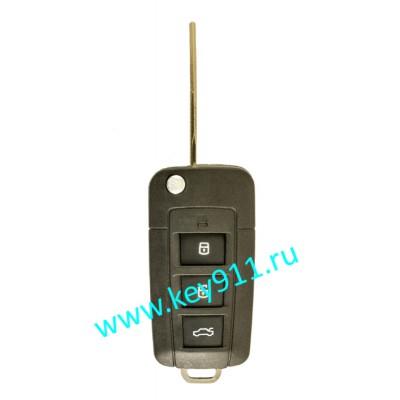 Корпус выкидного ключа Хундай (Hyundai) | HYN6 | 3 кнопки + паника