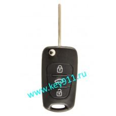 Выкидной ключ для Хундай IX35, I20 (Hyundai IX35, I20) OKA-185T | TOY48 | PCF7936 | 3 кнопки | 434MHz Европа