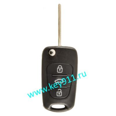 Корпус выкидного ключа Киа (Kia) | TOY48 | 3 кнопки