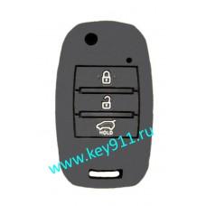 Силиконовый чехол для выкидного ключа Киа (Kia) | 3 кнопки
