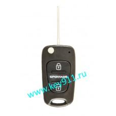 Корпус выкидного ключа Киа Спортейдж (Kia Sportage)   TOY48   2 кнопки