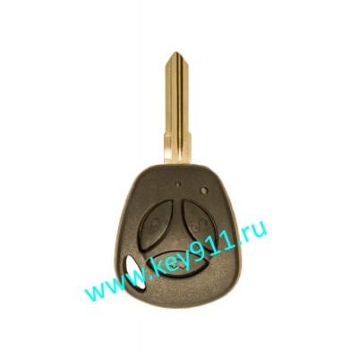 Корпус ключа Лада Калина, Приора, Гранта (Lada Priora, Kalina, Granta) | LD1 | 3 кнопки