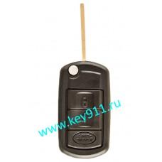 Корпус выкидного ключа Лэнд Ровер (Land Rover) | HU101 | 3 кнопки