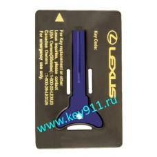 Аварийный ключ для Лексус (Lexus) | TOY48 | под чип