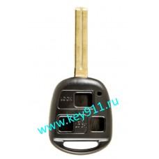 Корпус ключа Лексус (Lexus) | TOY48 | 3 кнопки | 40мм