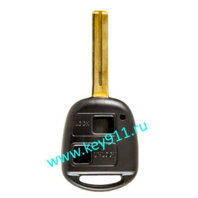 Корпус ключа Лексус (Lexus) | TOY48 | 2 кнопки | 46мм