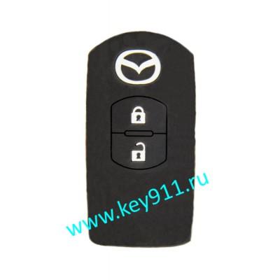 Силиконовый чехол для смарт ключа Мазда (Mazda) | 2 кнопки