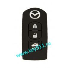 Силиконовый чехол для смарт ключа Мазда (Mazda)   3 кнопки