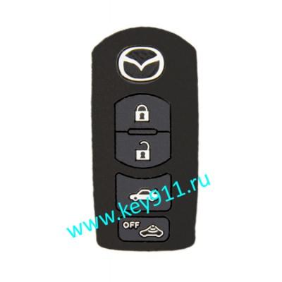 Силиконовый чехол для смарт ключа Мазда (Mazda) | 4 кнопки