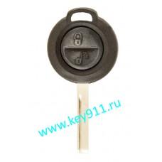 Корпус ключа Мицубиши Кольт (Mitsubishi Colt) | HU56 | 2 кнопки