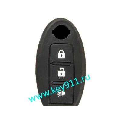 Силиконовый чехол для смарт ключа Ниссан (Nissan) | 3 кнопки